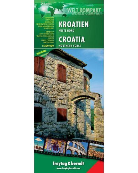Cartographia  - Horvát tengerpart észak térkép world compact