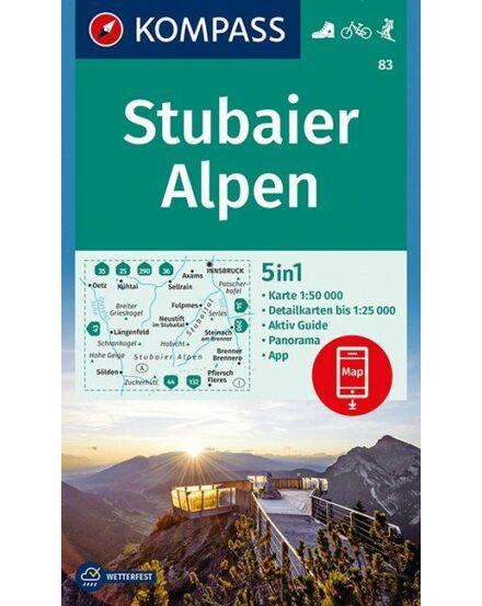 Cartographia  - K 83 Stubai Alpok turistatérkép
