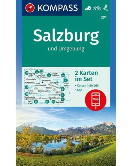 Cartographia  - K 291 Salzburg és környéke turistatérkép