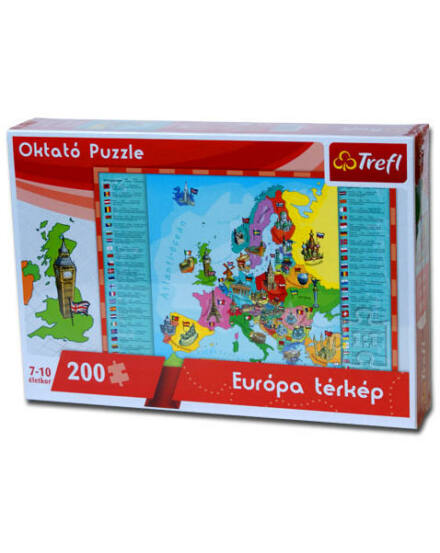 Cartographia  - Puzzle Európa térkép 60x40 cm, 200 db