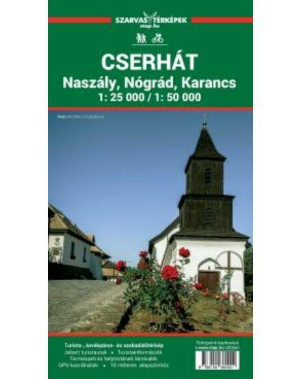 Cartographia  - Cserhát, Naszály, Nógrád, Karancs turistatérkép