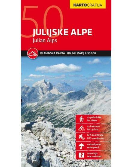 Cartographia  - Júliai-Alpok turistatérkép