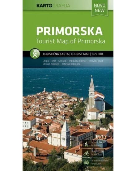 Cartographia  - Szlovénia tengerpart (Primorska) turistatérkép