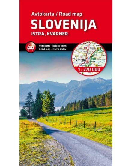 Cartographia  - Szlovénia, Isztria és Kvarner-öböl autótérkép