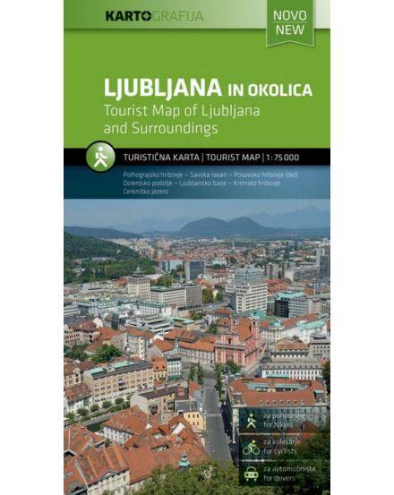 Cartographia  - Ljubljana és környéke turistatérkép