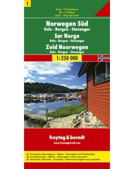 Cartographia  - Norvégia résztérkép (1) Dél-Norvégia