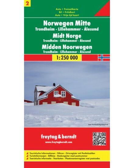 Cartographia  - Norvégia résztérkép (2) Közép-Norvégia