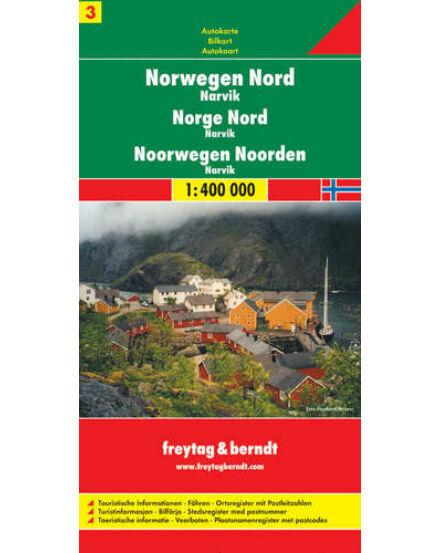 Cartographia  - Norvégia résztérkép (3) Észak-Norvégia