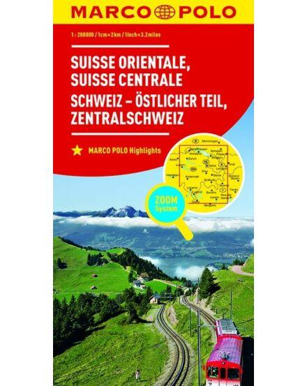 Cartographia  - Svájc résztérkép - Svájc Kelet és Közép