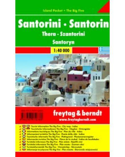 Cartographia  - Santorini Island Pocket térkép