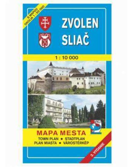 Cartographia  - Zólyom (Zvolen), Szliács (Sliač) várostérkép