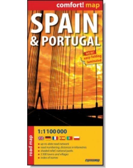 Cartographia  - Spanyolország, Portugália Comfort térkép