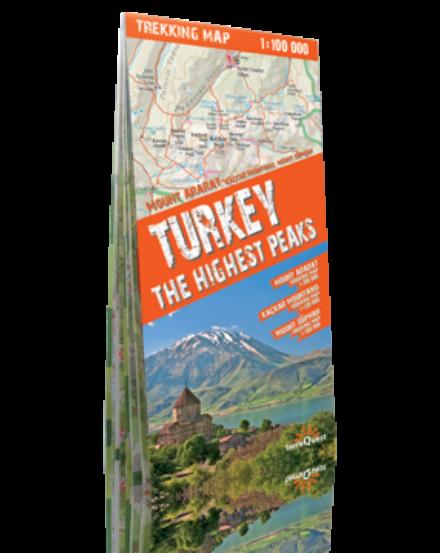 Cartographia  - Törökország legmagasabb csúcsok trekking térkép