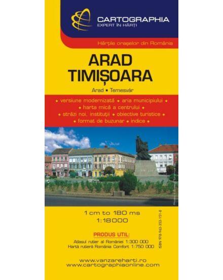 Cartographia  - Arad, Temesvár várostérkép