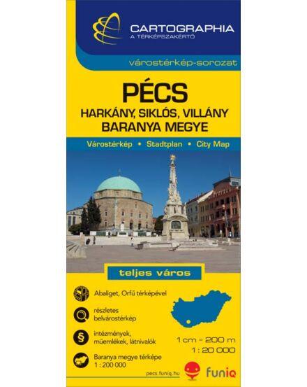 Cartographia  - Pécs várostérkép (+Baranya megye térképe)