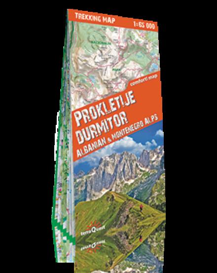 Cartographia  - Prokletije, Durmitor, Albán- és Montenegrói Alpok trekking térkép