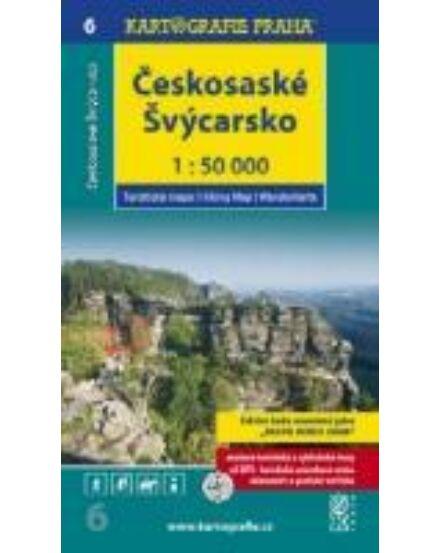 Cartographia  - TM 6 Cseh-szász Svájc/Ceskosaské Svycarsko turistatérkép