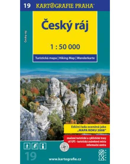 Cartographia  - TM 19 Cseh Paradicsom/Cesky ráj turistatérkép