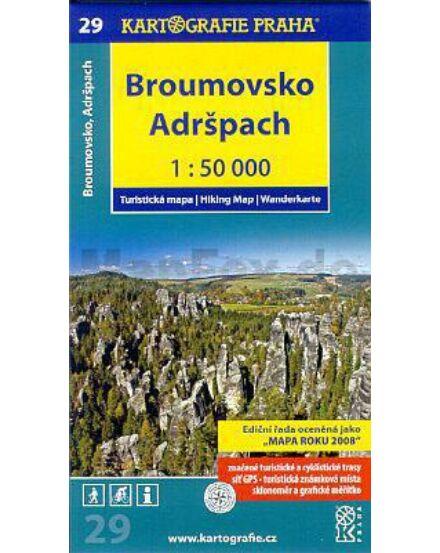 Cartographia  - TM 29 Broumovsko, Adrspach turistatérkép