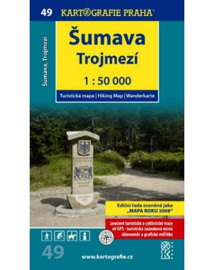 Cartographia  - TM 49 Sumava - Trojmezi turistatérkép