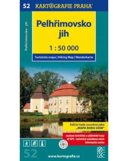 Cartographia  - TM 52 Pelhrimovsko turistatérkép