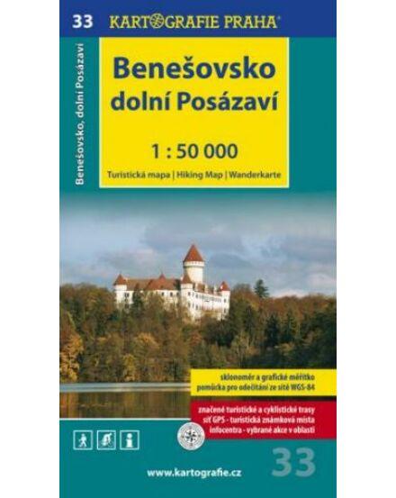 Cartographia  - TM 33 Benesovsko és alsó (dolni) Posázaví turistatérkép