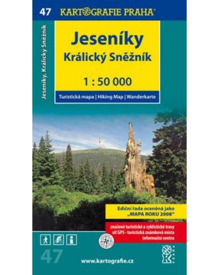 Cartographia  - TM 47 Jeseník-hegység, Kralicei-havasok/Králicky Sneznik turistatérkép