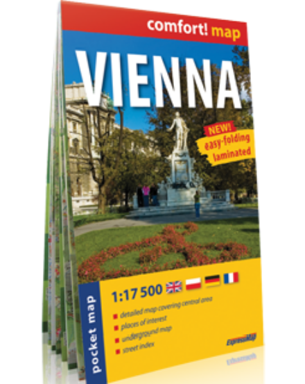 Cartographia  - Bécs Comfort zsebtérkép