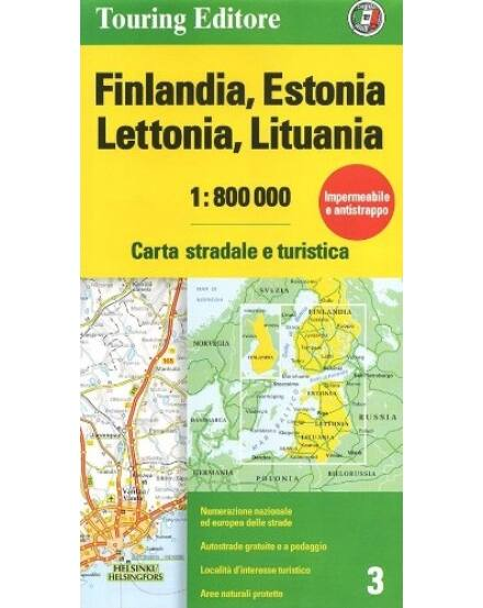 Cartographia  - Finnország, Észtország, Lettország, Litvánia térkép