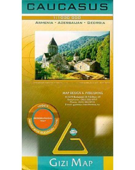 Cartographia  - Kaukázus domborzati térkép