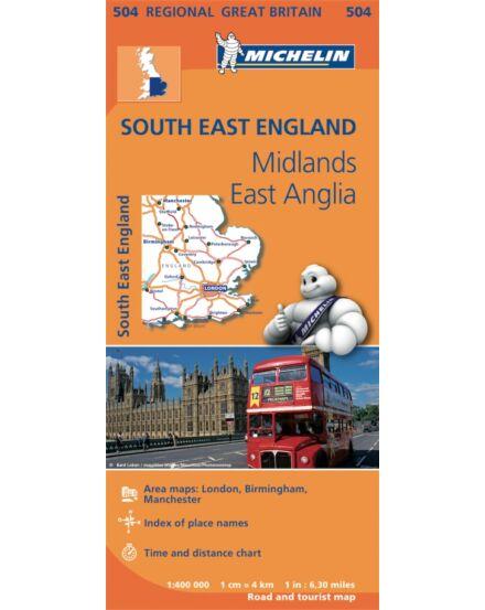 Cartographia  - Nagy-Britannia (délkelet) térkép - Michelin 504
