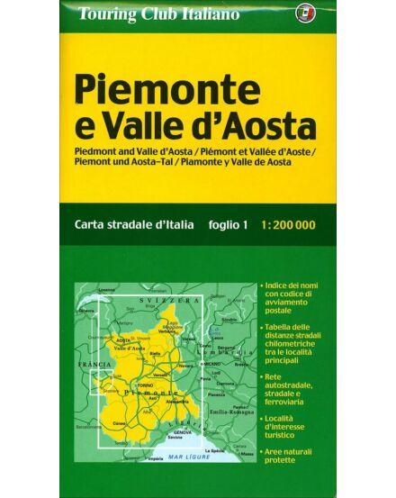 Cartographia  - Piemonte e Valle d'Aosta régiótérkép