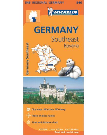 Cartographia  - Németország régiótérkép Bajorország