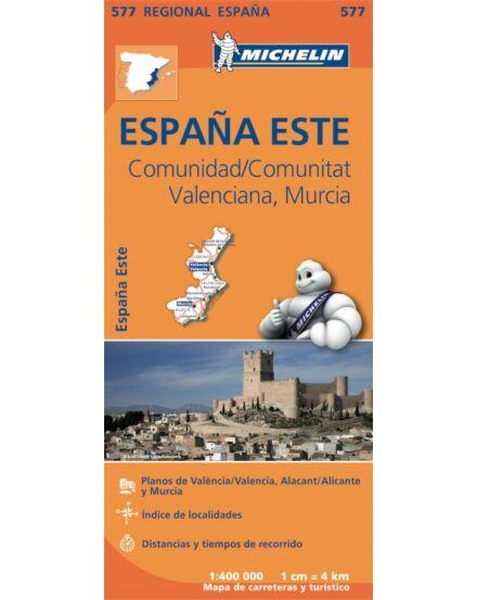 Cartographia  - Spanyolország régiótérkép Valencia, Murcia