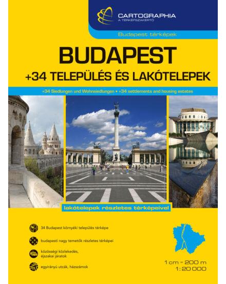 Cartographia  - Budapest +34 település és lakótelepek atlasz