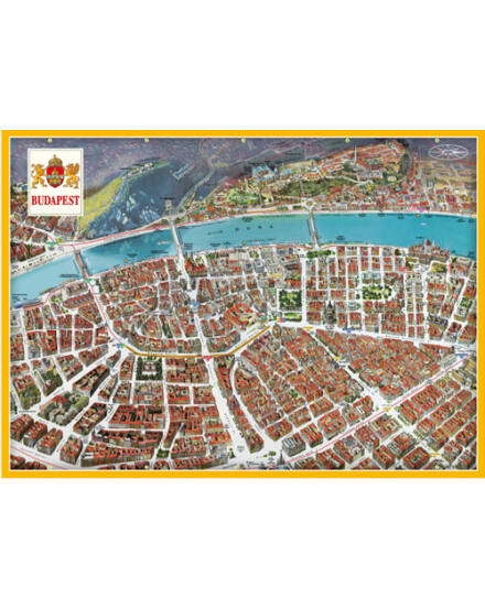 Cartographia  - Budapest Panorámatérkép (orosz)