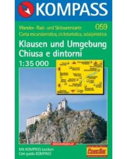 Cartographia  - K 059 Dolomitok: Klausen és környéke turistatérkép