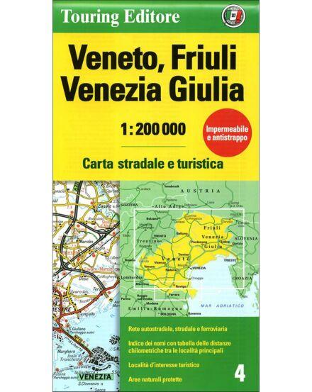 Cartographia  - Veneto Friuli-Venezia Giulia régiótérkép