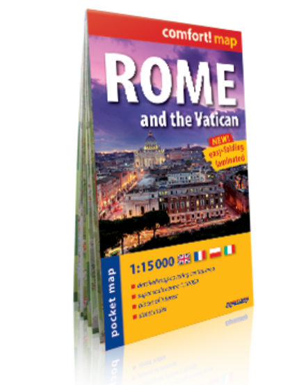 Cartographia  - Róma, Vatikán Comfort zsebtérkép