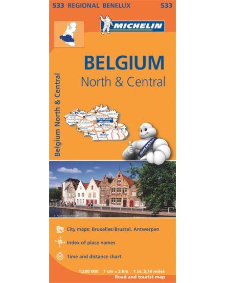 Cartographia  - Belgium észak közép térkép