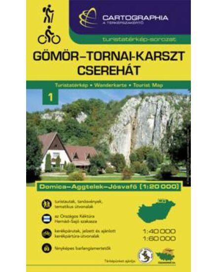Cartographia  - Aggtelek Gömör-Tornai-karszt turistatérkép