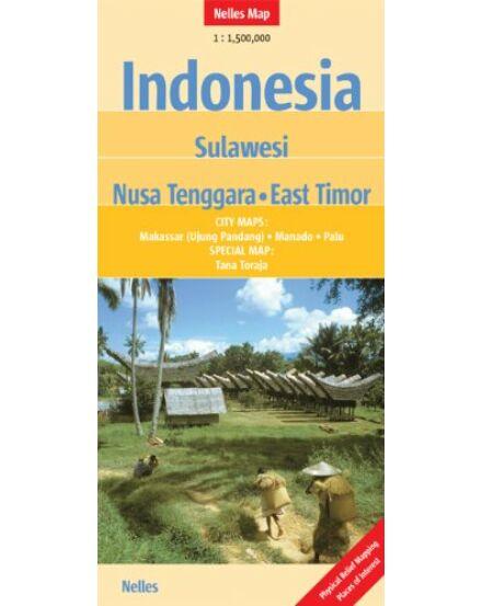Indonézia: Szulavézi, Kis-Szunda-szigetek, Kelet-Timor térkép