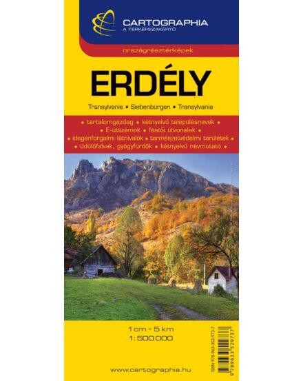 Cartographia  - Erdély autótérkép