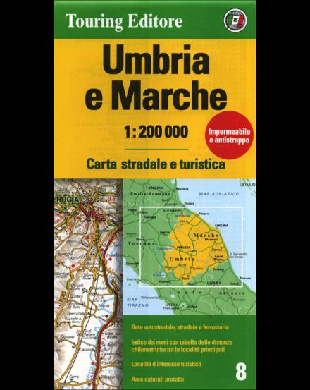 Cartographia  - Umbria e Marche régiótérkép