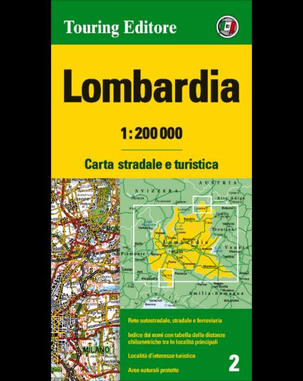 Cartographia  - Lombardia régiótérkép