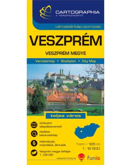 Cartographia  - Veszprém várostérkép (+Veszprém megye térképe)