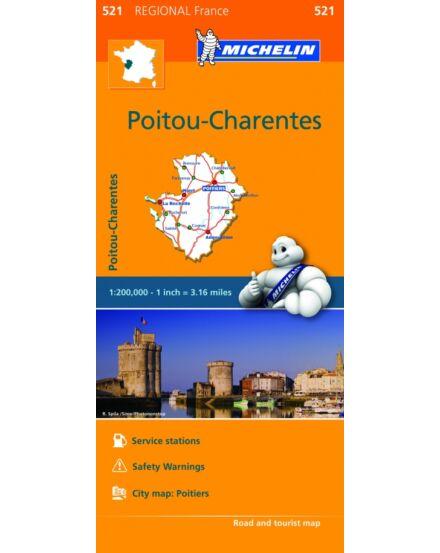 Cartographia  - Franciaország régiótérkép Poitou Charentes