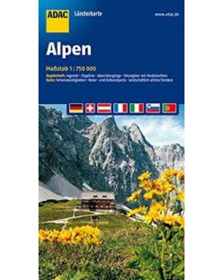 Cartographia  - Alpok autótérkép