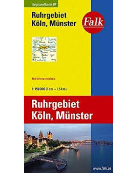 Cartographia  - Németország régiótérkép 7. - Ruhrgebiet, Köln, Münster
