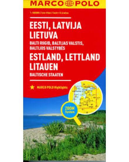 Cartographia  - Észtország, Lettország, Litvánia térkép